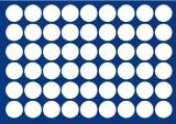 VASSOIO PER 54 MONETE con un diametro fino 29.5 mm - Caselle rotonde