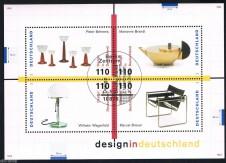 BRIEFMARKENBLOCK FOGLIETTO DESIGN - 1998 timbrato