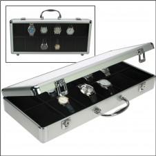 Valigia in alluminio di design per 12 orologi