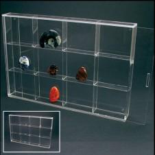 Piccola vetrinetta in acrilico 12 scomparti 85x75x27