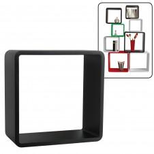 Cubo arredo nero 26x26x20 cm