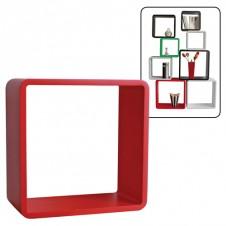 Cubo arredo rosso 26x26x20 cm