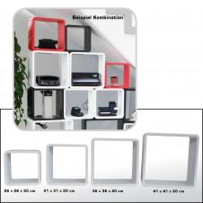 Cubi arredo - Set (4 cubi) bianco