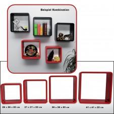 Cubi arredo - Set (4 cubi) rosso