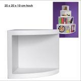 Eck-Board Syno bianco 20x20x19 cm