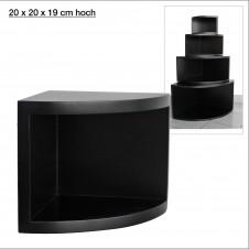Eck-Board Syno nero 20x20x19 cm