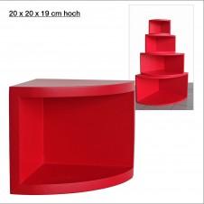 Eck-Board Syno rosso 20x20x19 cm