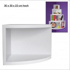 Eck-Board Syno bianco 30x30x23 cm