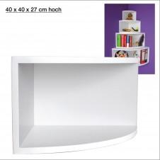 Eck-Board Syno bianco 40x40x27 cm