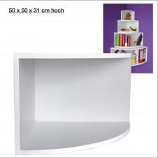 Eck-Board Syno bianco 50x50x31 cm