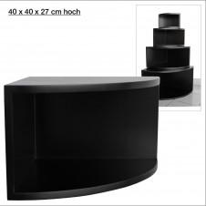 Eck-Board Syno nero 40x40x27 cm