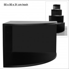 Eck-Board Syno nero 50x50x31 cm