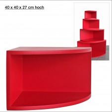 Eck-Board Syno rosso 40x40x27 cm