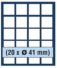 VASSOIO PER 20 MONETE con un diametro fino 41 mm -Caselle quadrate