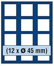 VASSOIO PER 12 MONETE con un diametro fino 45 mm - Caselle quadrate