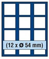 VASSOIO PER 12 MONETE con un diametro fino 54 mm - Caselle quadrate