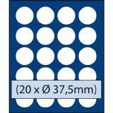 VASSOIO PER 20 MONETE con un diametro fino 37.5 mm - Caselle rotonde