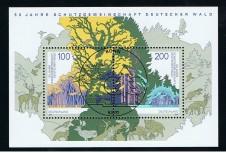 BRIEFMARKENBLOCK FOGLIETTO FORESTE - 1997 timbrato