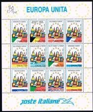 BRIEFMARKENBLOCK FOGLIETTO EUROPA UNITA - 1993 nuovo**