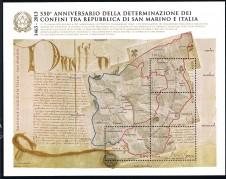 BRIEFMARKENBLOCK FOGLIETTO ANNIVERSARIO DETERMINAZIONE DEI CONFINI - 2013 nuovo**