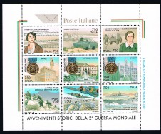 BRIEFMARKENBLOCK SECONDA GUERRA MONDIALE - 1995 nuovo**