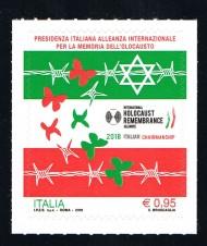 BRIEFMARKE ITALIEN FRANCOBOLLO ITALIA UN FRANCOBOLLO MEMORIA DELL'OLOCAUSTO - 2018 nuovo**