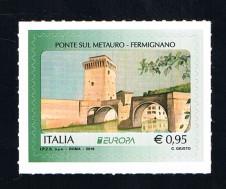 BRIEFMARKE ITALIEN FRANCOBOLLO ITALIA     UN FRANCOBOLLO EUROPA CEPT PONTE SUL METAURO FERMIGNANO - 2018 nuovo**