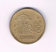 MÜNZEN MONETE SPAGNA ESPANA SPAIN SPANIEN MONETA 500 PESETAS 1989