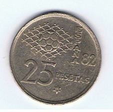 MÜNZEN MONETE SPAGNA ESPANA SPAIN SPANIEN MONETA 25 PESETAS 1980 (80)