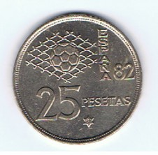MÜNZEN MONETE SPAGNA ESPANA SPAIN SPANIEN MONETA 25 PESETAS 1980 (81)