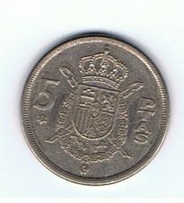 MÜNZEN MONETE SPAGNA ESPANA SPAIN SPANIEN MONETA 5 PESETAS 1975 (78)