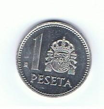 MÜNZEN MONETE SPAGNA ESPANA SPAIN SPANIEN MONETA 1 PESETA ANNO 1985