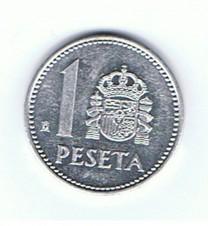MÜNZEN MONETE SPAGNA ESPANA SPAIN SPANIEN MONETA 1 PESETA ANNO 1986