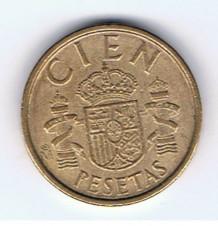 MÜNZEN MONETE SPAGNA ESPANA SPAIN SPANIEN MONETA 100 PESETAS 1990