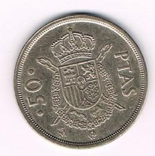 MÜNZEN MONETE SPAGNA ESPANA SPAIN SPANIEN MONETA 50 PESETAS 1982