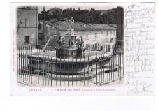 CARTOLINA LORETO FONTANA DEI GALLI VIAGGIATA 1903