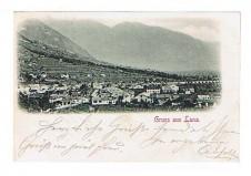 ANSICHTSKARTE LANA GRUSS AUS LANA SÜDTIROL ALTO ADIGE GELAUFEN 1899