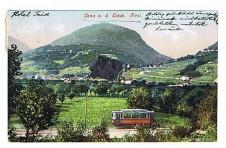 ANSICHTSKARTE LANA AN DER ETSCH TRAMM SÜDTIROL ALTO ADIGE VIAGGIATA 1912