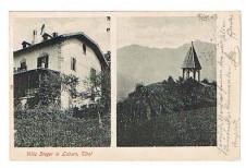 ANSICHTSKARTE MERAN VILLA STEGER LABERS ALTO ADIGE GELAUFEN 1903