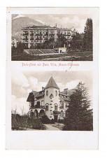 ANSICHTSKARTE MERAN OBERMAIS PARK HOTEL PARK VILLA MERANO GELAUFEN 1915