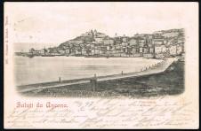 CARTOLINA SALUTI DA ANCONA VIAGGIATA 1897