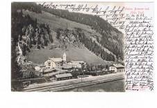 ANSICHTSKARTE BRENNER STATION UND HOTEL POST ALTO ADIGE SÜDTIROL GELAUFEN 1903