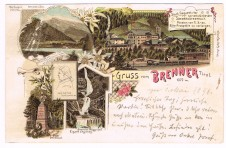 ANSICHTSKARTE BRENNER GRUSS VOM BRENNER ALTO ADIGE SÜDTIROL GELAUFEN 1898