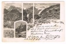 ANSICHTSKARTE BRENNER GRUSS AUS PFLERSCH * POSTABLAGE * SÜDTIROL GELAUFEN 1902