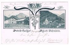 ANSICHTSKARTE FREIENFELD GRUSS MAULS SEEBERS GASTHOF SÜDTIROL GELAUFEN 1902