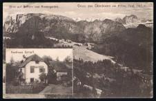 ANSICHTSKARTE RITTEN GRUSS AUS OBERBOZEN GASTHAUS SCHLUFF SÜDTIROL GELAUFEN 1914