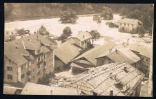 ANSICHTSKARTE KLAUSEN CHIUSA HOCHWASSER 1921 SÜDTIROL