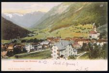 ANSICHTSKARTE GOSSENSASS AM BRENNER ALTO ADIGE SÜDTIROL GELAUFEN 1906