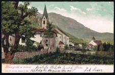 ANSICHTSKARTE MAGREID MAGRE POSTABLAGE KURTING SÜDTIROL ALTO ADIGE GELAUFEN 1904