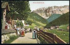 ANSICHTSKARTE WOLKENSTEIN IN GRÖDEN SELVA DI VAL GARDENA SÜDTIROL GELAUFEN 1907